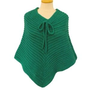 Helen Welsh Italian Made Emerald Poncho NWOT- O/S